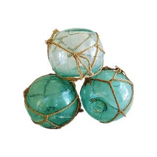 Nautical Glass Fishing Floats - Set of 3