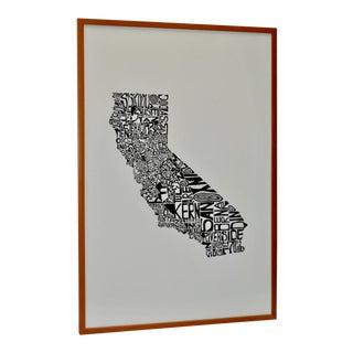 California Counties Framed Art