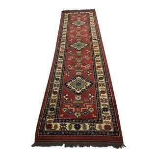 Vintage Punjab Kazak Wool Runner - 2′10″ × 10′7″