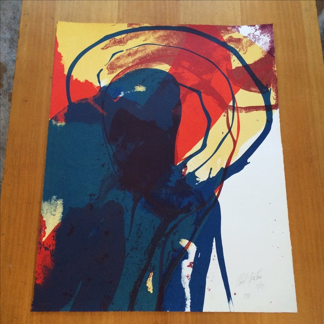 Signed 1971 Paul Jenkins Lithograph - Image 2 of 5