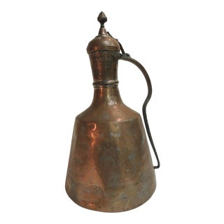 Vintage Persian Tinned Copper Water Ewer