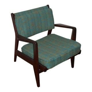 Jens Risom Walnut Lounge Chair