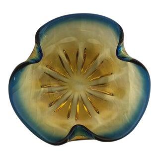 Murano Blue & Amber Bowl