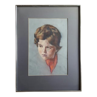 Pastel Portrait Painting of a Boy by K. S.