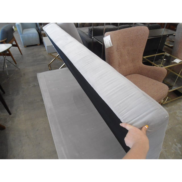 Intuition Light Gray Tufted Velvet Daybed - Image 6 of 7