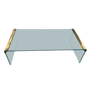 Leon Rosen for Pace Waterfall Brass Coffee Table