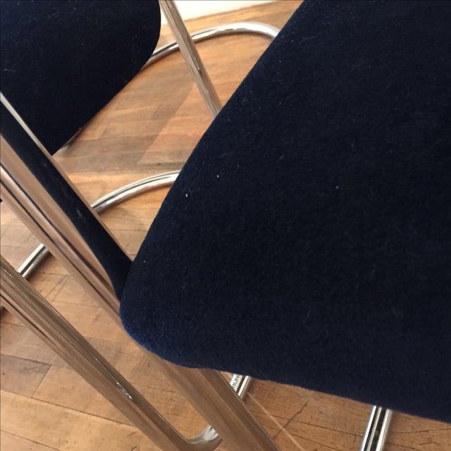Chrome & Velvet Armchairs - Set of 4 - Image 6 of 7