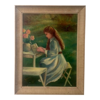 Mid-Century Painting of a Girl
