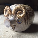 Image of Large Raymor Stylized Ram Figurine