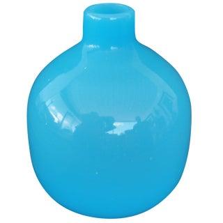 Mid-Century Modern Murano Blue Empoli Art Glass