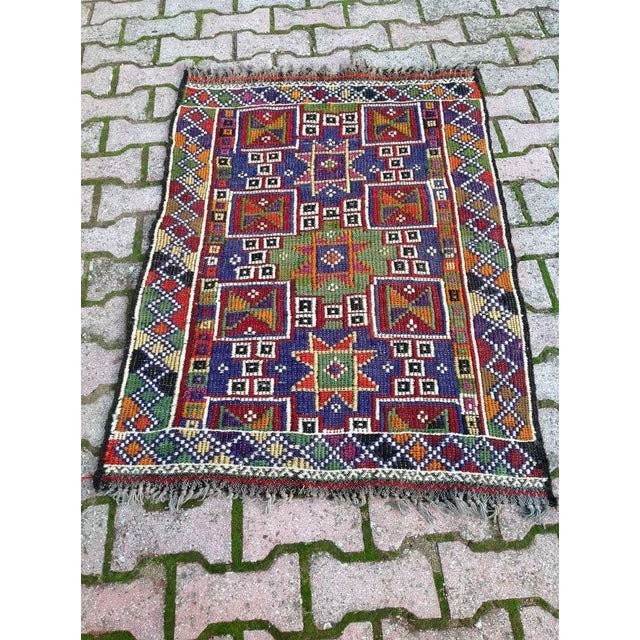 Image of VINTAGE Handwoven Turkish Kilim Rug