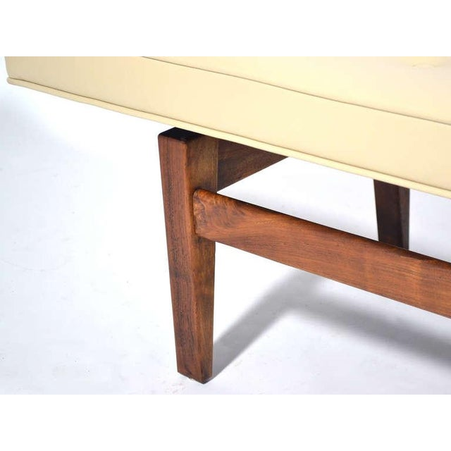 Jens Risom Floating Bench with Leather Seat - Image 8 of 9