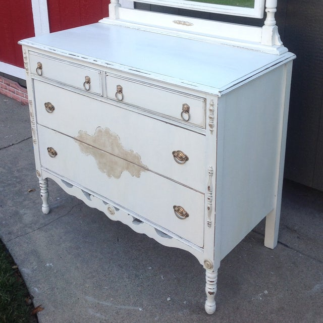 Vintage Shabby Chic Dresser with Mirror - Image 3 of 5