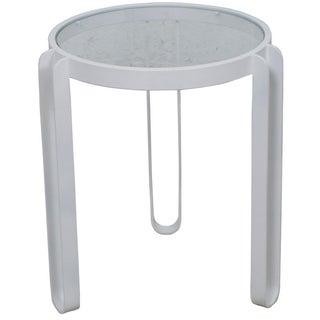 White Enamel Side Table
