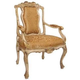 Carved Italian Sienna Dining Arm Chair by Randy Esada Designs Inc