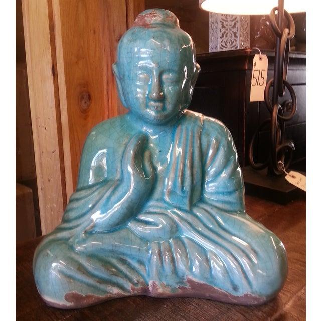 Turquoise Sitting Buddha Statue - Image 2 of 8