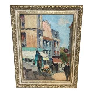 Paris Street Scene Oil Painting