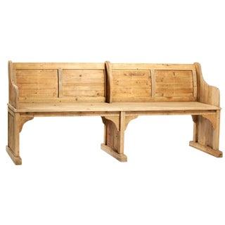 Vintage Wooden Chapel Bench