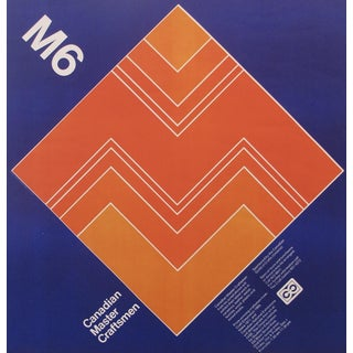 1971 Canadian Op Art Graphic Design Poster Burton Kramer
