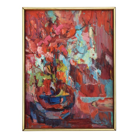 Image of Rebecca Levy Abstract Painting, 1960s