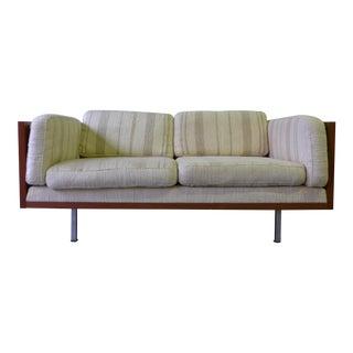 Komfort Mid-Century Danish Modern Teak Wrapped Tweed Sofa