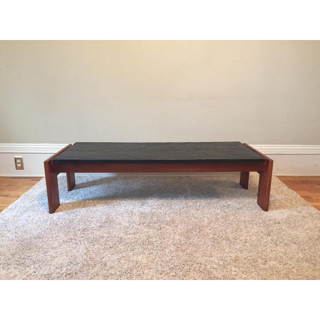 Adrian pearsall slate top coffee table chairish Slate top coffee tables