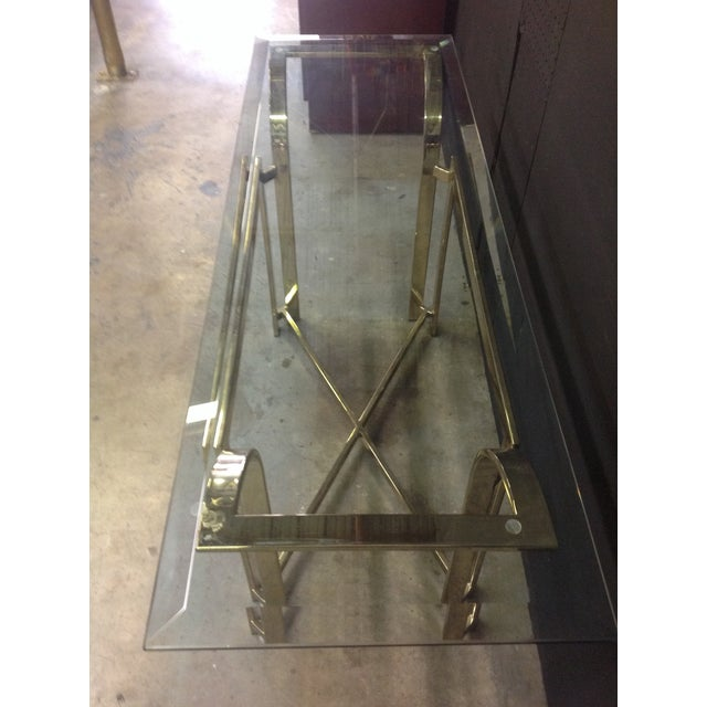 DIA Style Brass Console Table - Image 6 of 7