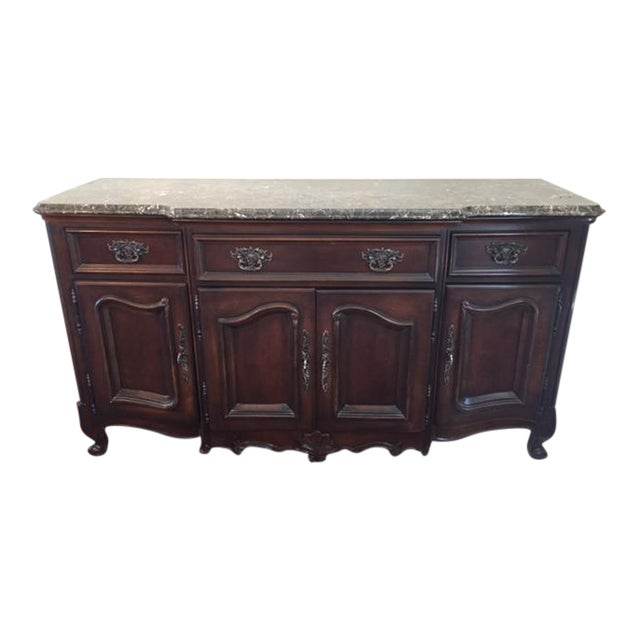 Marble/Granite Top Dining Room Buffet/Sideboard by Bernhardt - Image 1 of 8