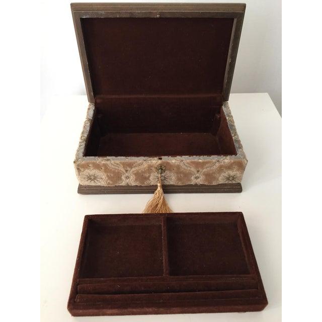 Italian Velvet Jewelry Box & Tassel Key-1965 - Image 7 of 10