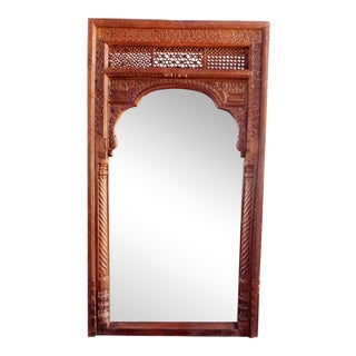 Old Door Full-Length Mirror Frame