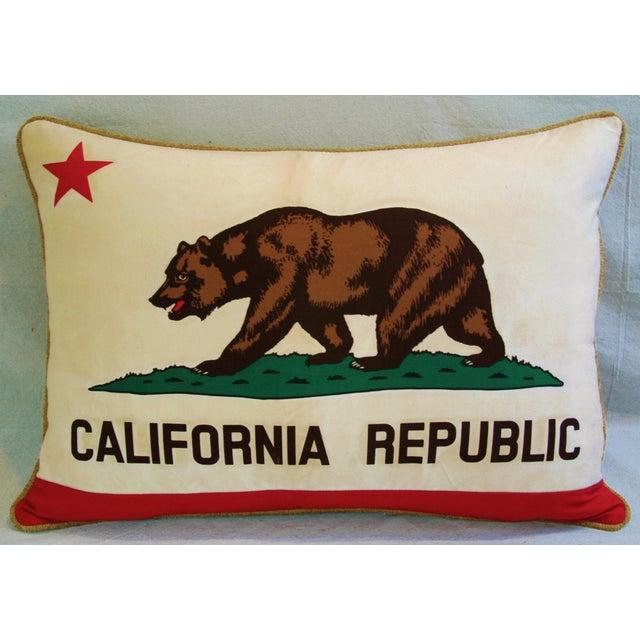 Jumbo California Republic Bear Flag Pillow - Image 3 of 11