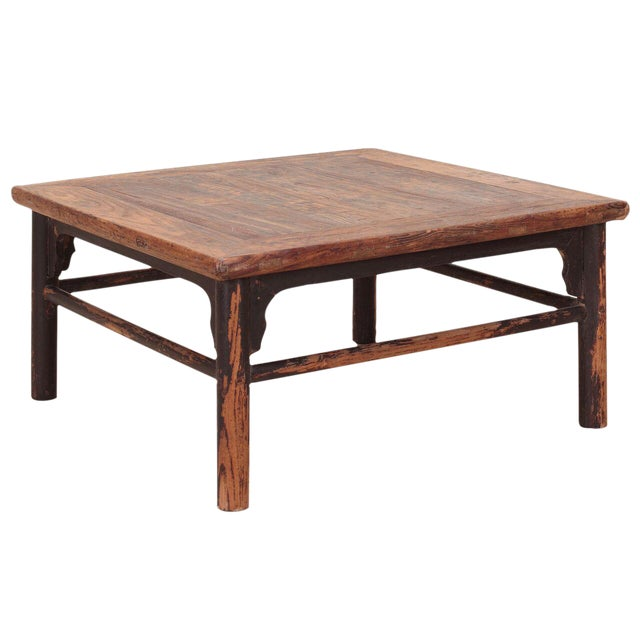 Image of Vintage Sarreid LTD 1950s Elm Coffee Table