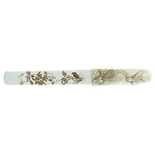 Japanese Shibayama Ivory Page Turner
