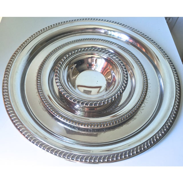 Classic Vintage Silver Trays & Silver Bowl - 3 - Image 6 of 6
