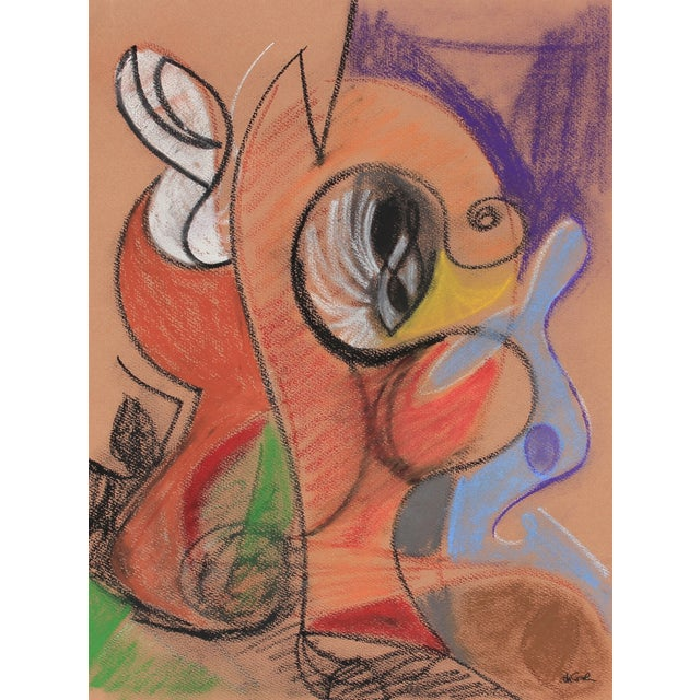 Bright Pastel Abstract Drawing, Late 20th Century - Image 1 of 2