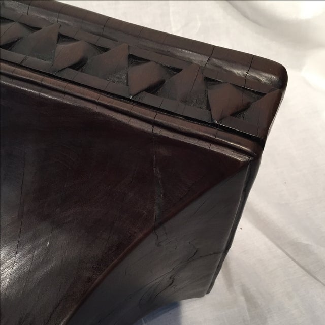 Image of Antique Solid Iron Wood Stool