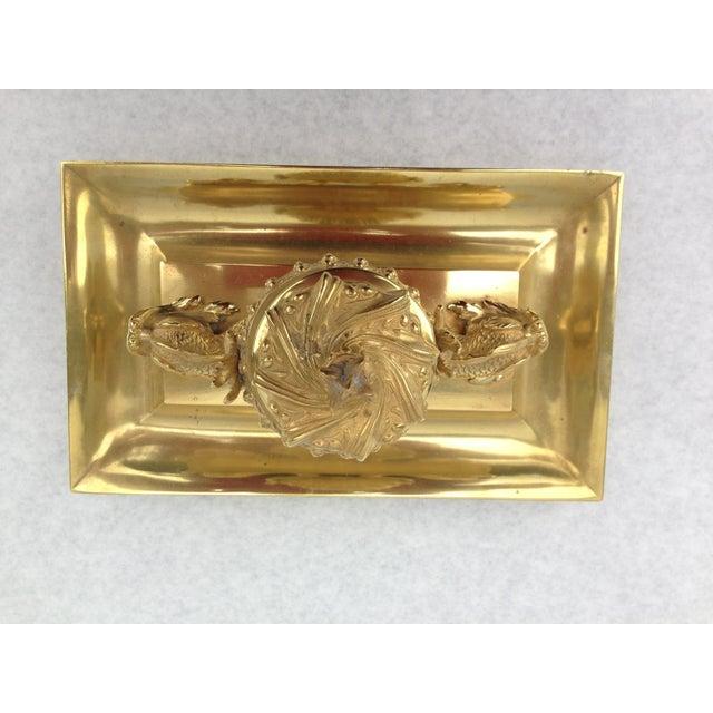 Image of American Gilt Bronze Inkwell