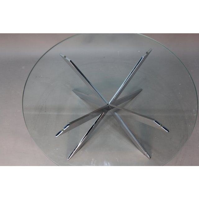 Leon Rosen for Pace Chrome Star Base Coffee Table - Image 6 of 6