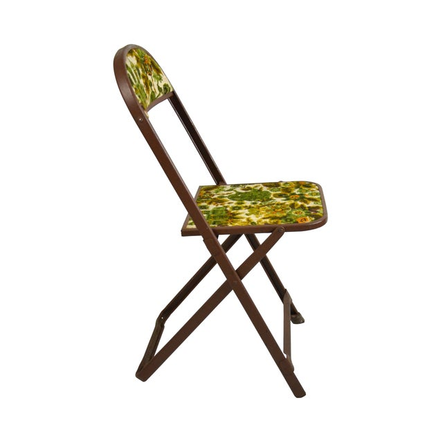 Vintage Tapestry Folding Chairs - S/4 - Image 3 of 6