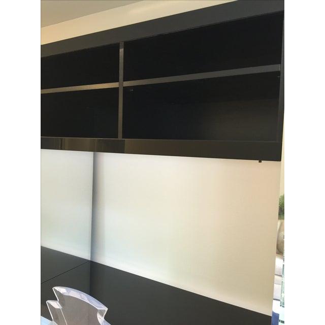 Ello Black Glass Curio Cabinet Desk - Image 4 of 11