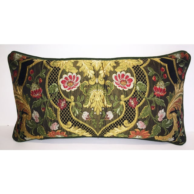 Image of Aubusson Tapestry Chenille Lumbar Pillow