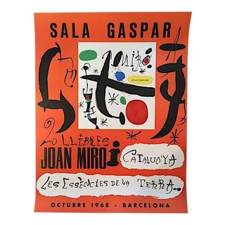 "Joan Miro ""Sala Gaspar"" Spanish Exhibition Poster - 1968 Barcelona"