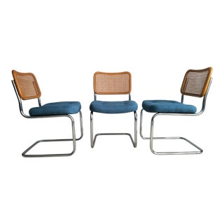 Cesca Cantilever Chairs by Chromcraft - Set of 3