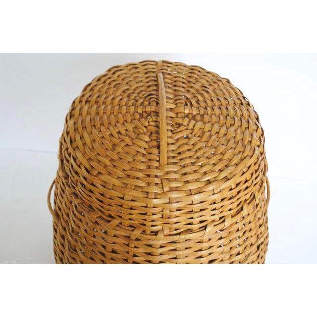 Vintage Rattan Standing Basket - Image 5 of 5