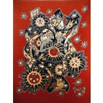 Image of Elie Grekoff Vintage 1950s French Red Tapestry