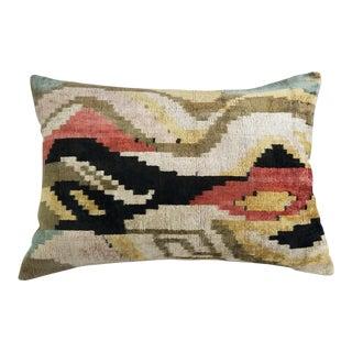 """""""Luna"""" Silk Velvet Ikat Pillow"""