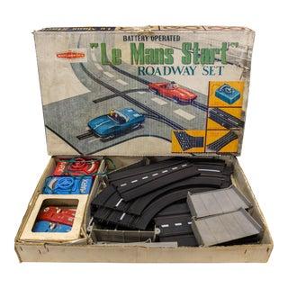 Vintage Louis Marx & Co. Le Mans Start Roadway Set