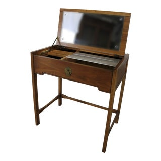 Vintage Mid-Century Drexel Campaign Style Lift Top Vanity