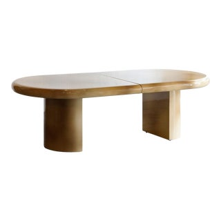 Massive Karl Springer Style Expanding Dining Table. 1980s