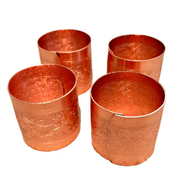 Image of Coppercraft Guild Garland Napkin Rings- Set of 8